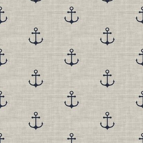 Anchor - Navy beige Texture