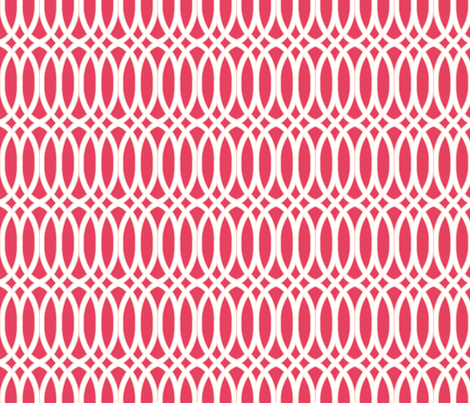 In Knots Coral fabric by horn&ivory on Spoonflower - custom fabric