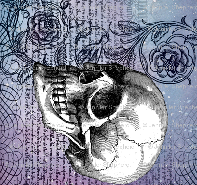Skull rose, rotated