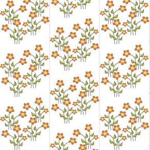 Orange flowers - Petite