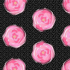 rose polka dots