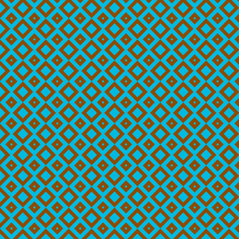 boxes brown-blue-small fabric by tailorfairy on Spoonflower - custom fabric
