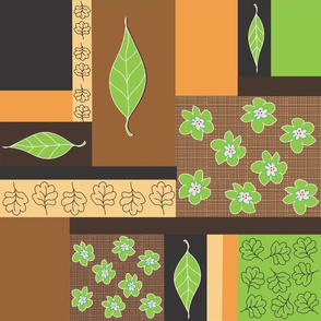 Leafy Green Naturals Block Design