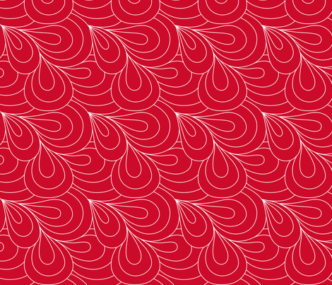 Paisley Quilt Me! Red fabric by leah_day on Spoonflower - custom fabric
