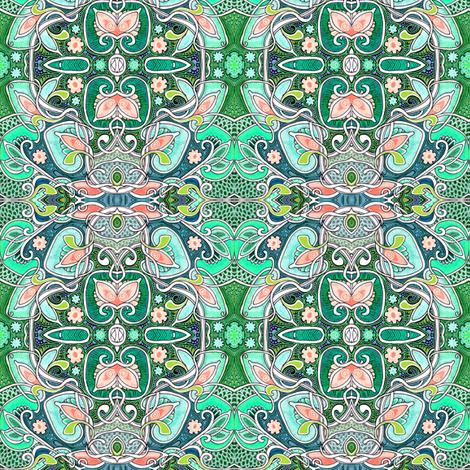 When Spring Wafts Through the Wind fabric by edsel2084 on Spoonflower - custom fabric