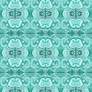 Aqua Victorian Lace and Grace