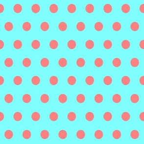Red Easter Dot on Cyan