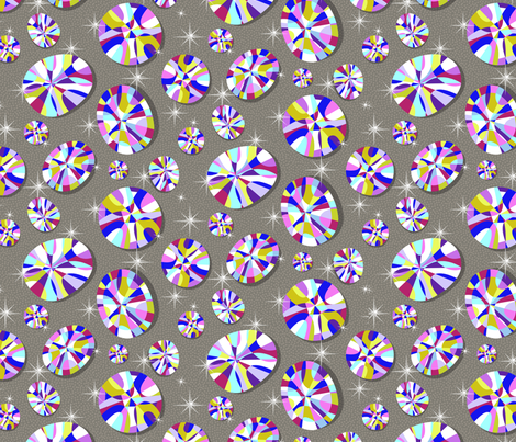 Bringing the Bling (small scale) fabric by celiaforrester on Spoonflower - custom fabric