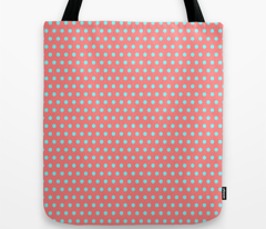 Cyan Easter Dot on Red