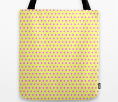 Magenta Easter Dot on Yellow