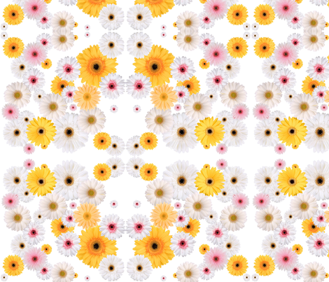 crazy daisy fabric by claireshap on Spoonflower - custom fabric