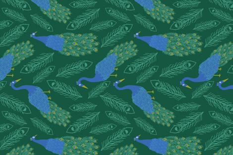 peacock fabric by abbeyrow on Spoonflower - custom fabric