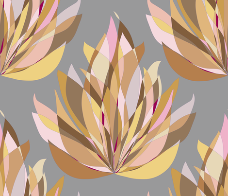 fire flower fabric by claudiamaher on Spoonflower - custom fabric