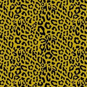mustard yellow leopard small size