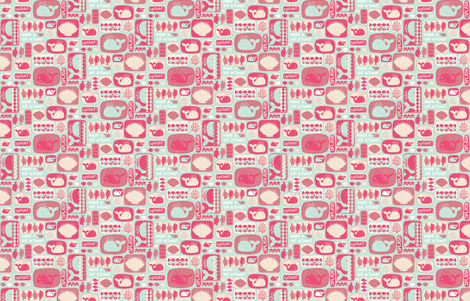 I spy some whales fabric by ispy on Spoonflower - custom fabric