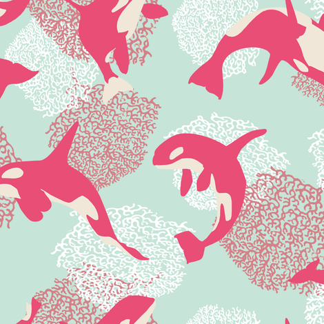 Fiaba_Whales fabric by honey_gherkin on Spoonflower - custom fabric
