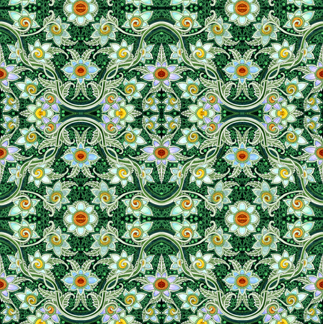 Ring Around the Posy fabric by edsel2084 on Spoonflower - custom fabric