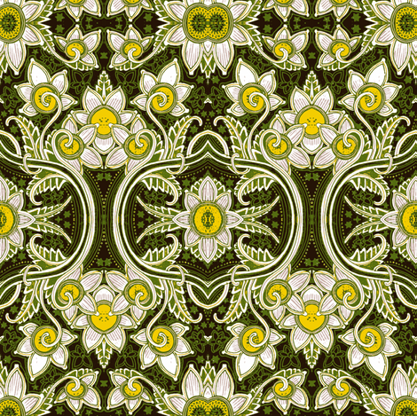 Daffo-dilly fabric by edsel2084 on Spoonflower - custom fabric