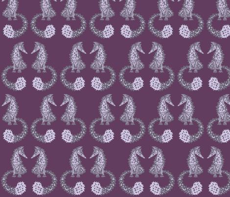 Feelin' Foxy - Purples fabric by lottibrown on Spoonflower - custom fabric