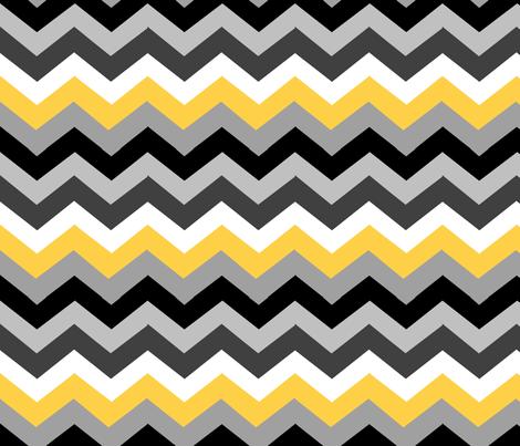 Black Yellow Chevron fabric - mattieanne - Spoonflower