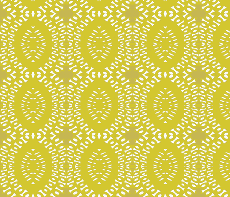 Sit in the Shade, Yellow fabric by susaninparis on Spoonflower - custom fabric