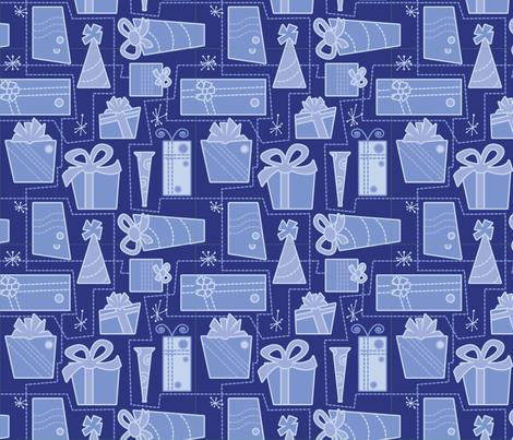 Gifts (blue) fabric by studiofibonacci on Spoonflower - custom fabric