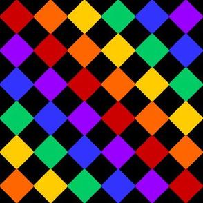 Rainbow / Black Checkered
