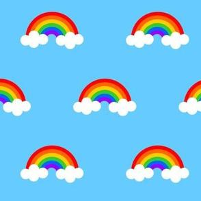 Rainbows w/ Clouds on Blue