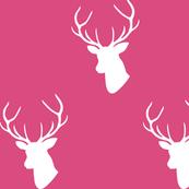 Hot Pink Deer Silhouette
