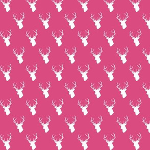 Hot Pink Deer Silhouette mini scale