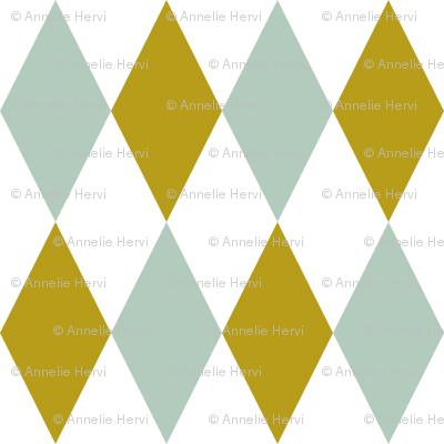 Mint Chartreuse Diamonds