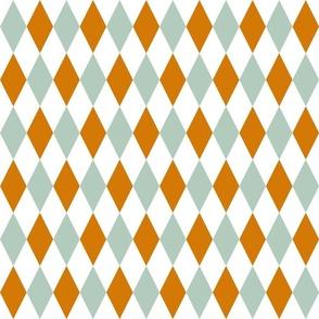 Mint Orange Diamonds