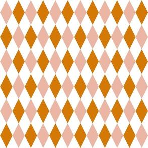Blush Orange Diamonds