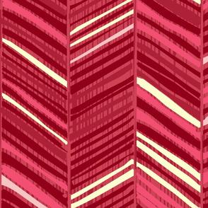 Herringbone Hues Cranberry Pink by Friztin