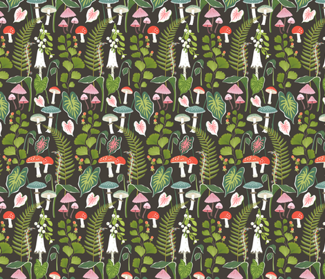 Wildwood: Botanical Forest fabric by sheri_mcculley on Spoonflower - custom fabric