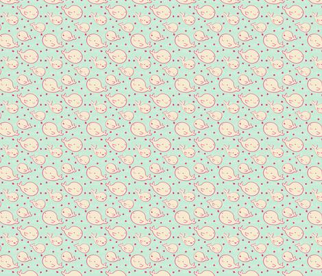 Baby Beluga Whales fabric by sugarcookie on Spoonflower - custom fabric