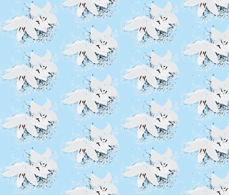 Lillies in Babies Breathe fabric by momsfun on Spoonflower - custom fabric