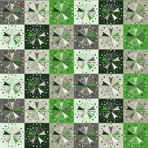 Circus Squares - Green Glass