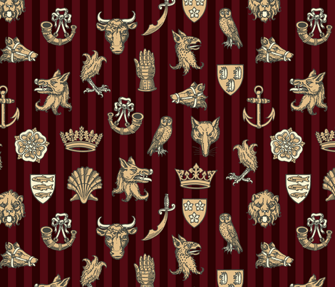 battle of st. albans (keyfield) fabric by mossbadger on Spoonflower - custom fabric