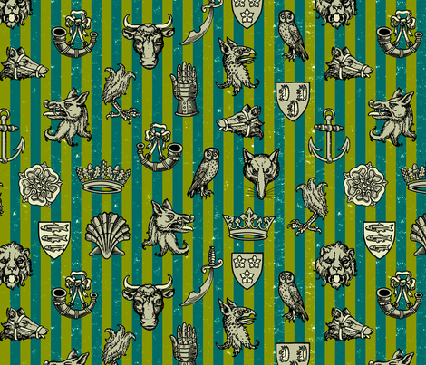 battle of st. albans (percy) fabric by mossbadger on Spoonflower - custom fabric