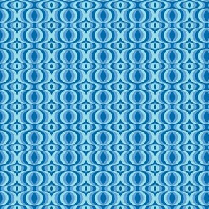 retro waves blue