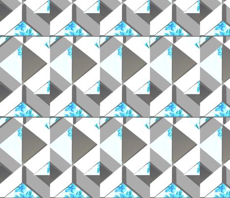 ps_spring_blue_print fabric by abigail_margo_hofeldt on Spoonflower - custom fabric