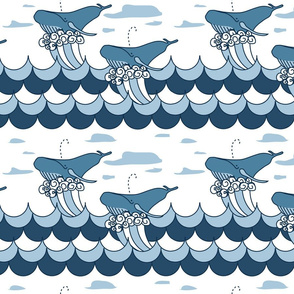 swooshing whales