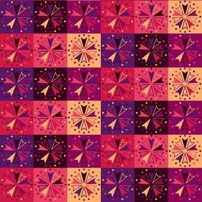 Circus Squares - Berry Sunset