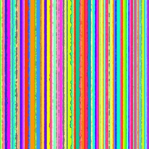 Multicolor Barcode Stripes - Ragged