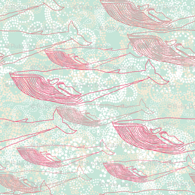 Whale Travelers in Pink