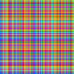 Rainbow Plaid - Pride Plaid - Multicolor Plaid