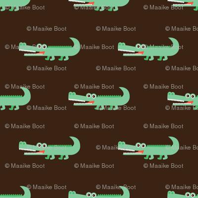 Awesome crocodile boys fabric