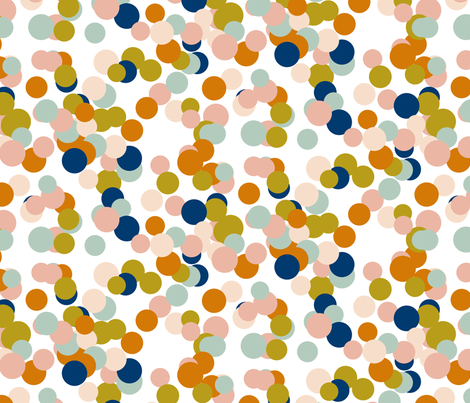Pastel Navy Confetti fabric by mrshervi on Spoonflower - custom fabric