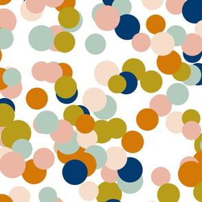 Pastel Navy Confetti